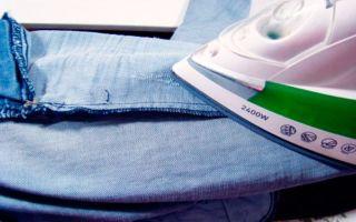 Как правильно гладить джинсы: с утюгом и без него