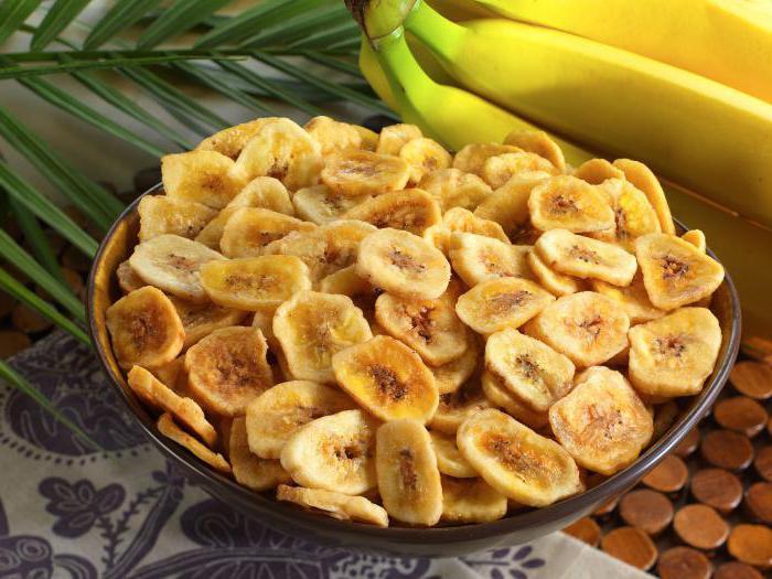 Польза и калорийность банана и банановых чипсов