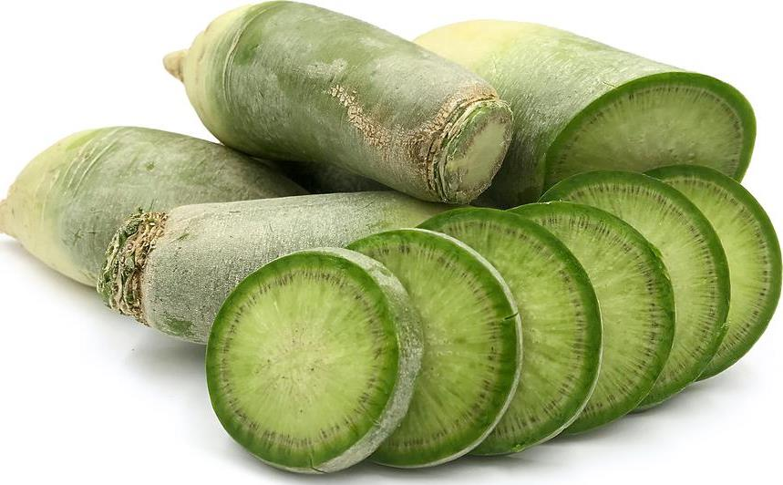 sliced green radish - 859×532