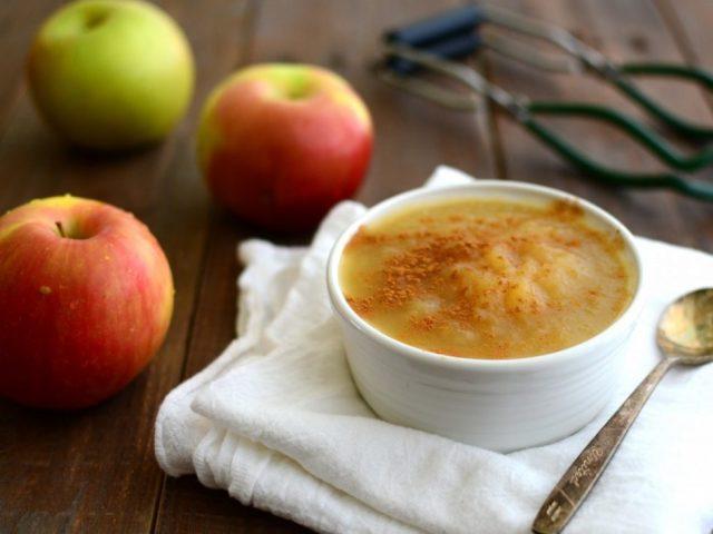 Яблочное пюре польза и вред для здоровья