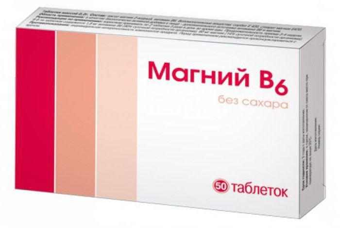 Состав таблеток магний б6