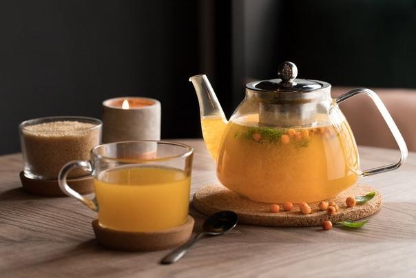 Зеленый чай с облепихой