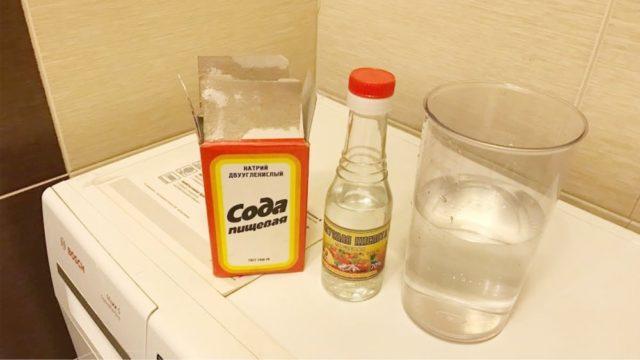 Как очистить стиральную машину содой и уксусом