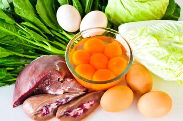 Продукты в которых есть холин витамин в4